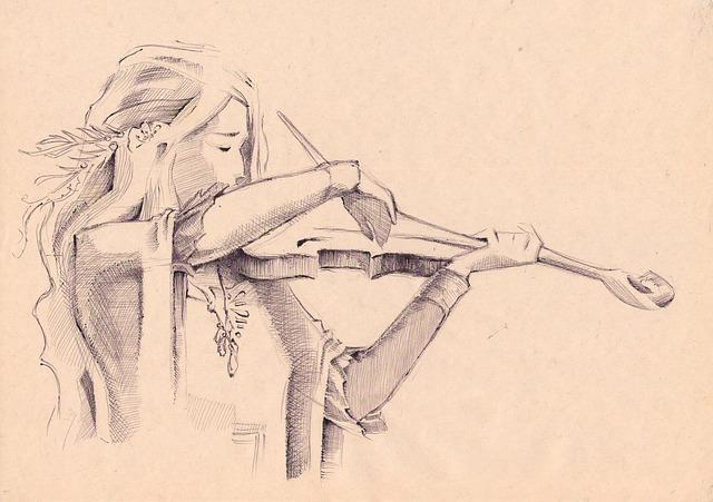violin-pencil-art